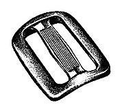 National Molding - Kunststoff Dreisteg/Sliplok Buckle, black, 25 mm