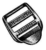 National Molding - Kunststoff Schließe Ladderloc/Tensionlock, black, 25 mm