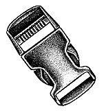 Basic Nature - Kunststoff Steckschließe/Stealth buckle, black, 25 mm