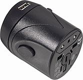 Steckeradapter - World Travel mit USB Lader
